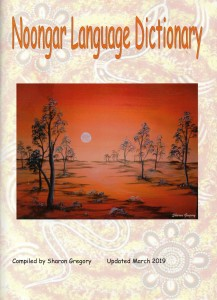 Noongar Language Dictionary cover produced by Sharon Gregory