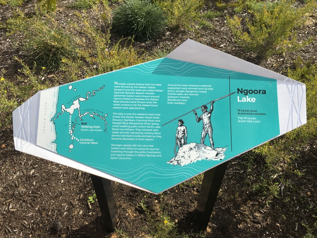 Ngoora / Lake Yandi Park sign