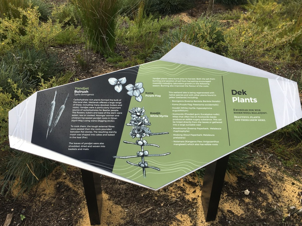 Dek / Plants Yandi Park sign