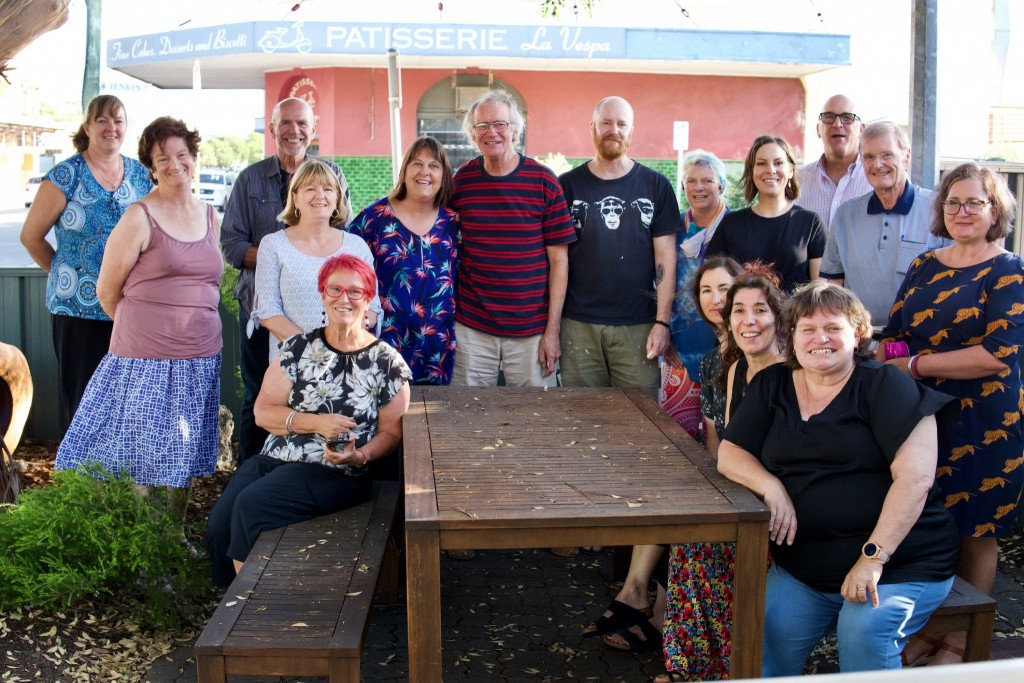 Noongar language group standing together