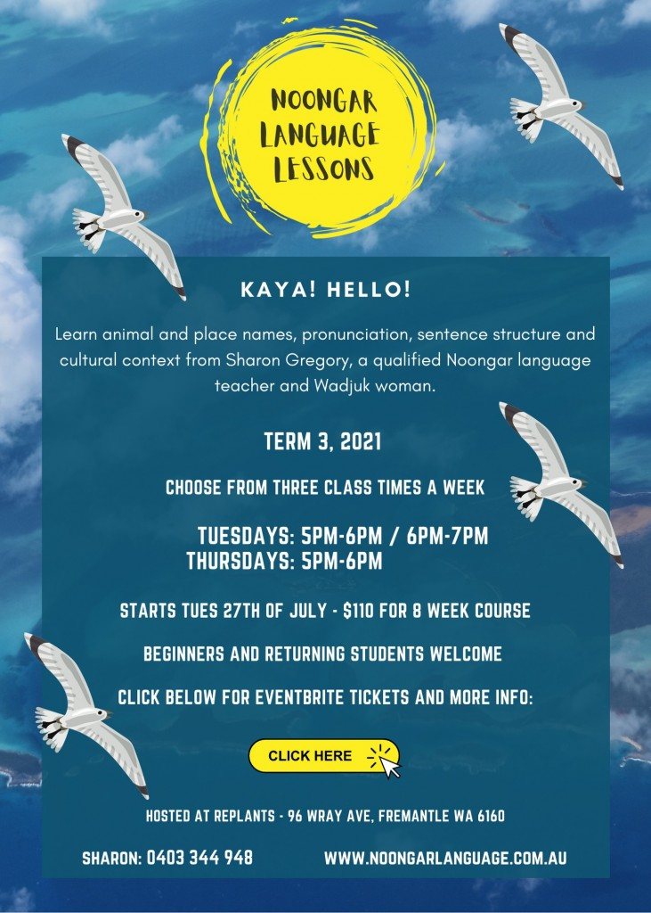 flyer for noongar language class